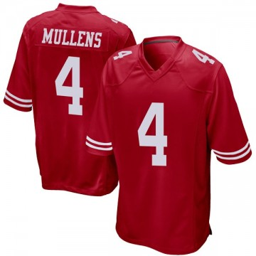 Youth Nike San Francisco 49ers Nick Mullens Red Team Color Jersey - Game
