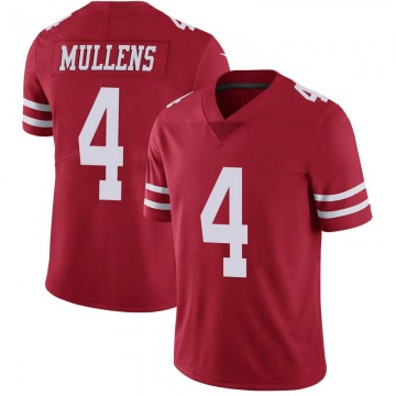 Youth Nike San Francisco 49ers Nick Mullens Scarlet 100th Vapor Jersey - Limited