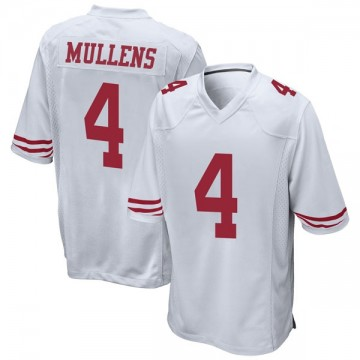 Youth Nike San Francisco 49ers Nick Mullens White Jersey - Game