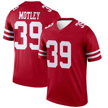 Youth Nike San Francisco 49ers Parnell Motley Scarlet Jersey - Legend