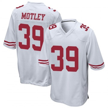Youth Nike San Francisco 49ers Parnell Motley White Jersey - Game