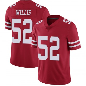 Youth Nike San Francisco 49ers Patrick Willis Scarlet 100th Vapor Jersey - Limited