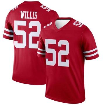 Youth Nike San Francisco 49ers Patrick Willis Scarlet Jersey - Legend
