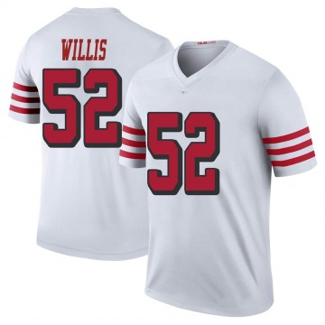 Youth Nike San Francisco 49ers Patrick Willis White Color Rush Jersey - Legend