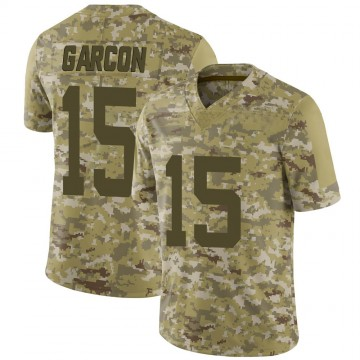 Youth Nike San Francisco 49ers Pierre Garcon Camo 2018 Salute to Service Jersey - Limited