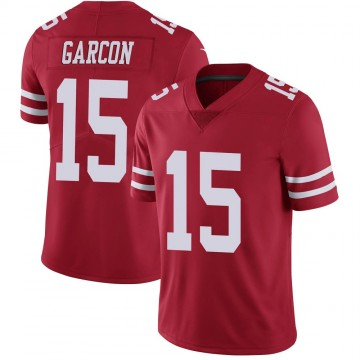 Youth Nike San Francisco 49ers Pierre Garcon Scarlet 100th Vapor Jersey - Limited