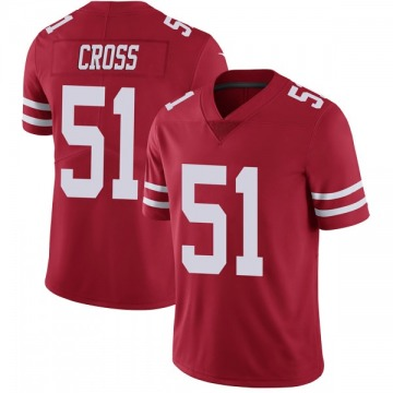Youth Nike San Francisco 49ers Randy Cross Red Team Color Vapor Untouchable Jersey - Limited