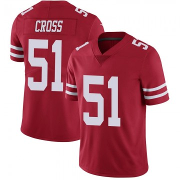 Youth Nike San Francisco 49ers Randy Cross Scarlet 100th Vapor Jersey - Limited