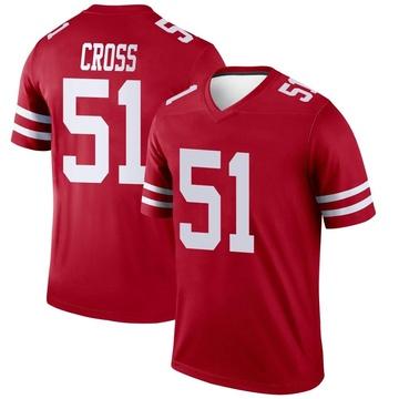 Youth Nike San Francisco 49ers Randy Cross Scarlet Jersey - Legend