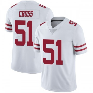 Youth Nike San Francisco 49ers Randy Cross White Vapor Untouchable Jersey - Limited
