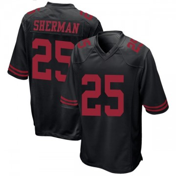 Youth Nike San Francisco 49ers Richard Sherman Black Alternate Jersey - Game