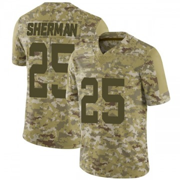 Youth Nike San Francisco 49ers Richard Sherman Camo 2018 Salute to Service Jersey - Limited