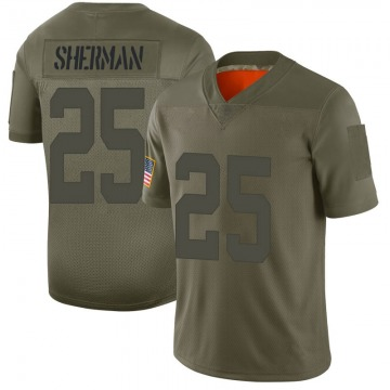 Youth Nike San Francisco 49ers Richard Sherman Camo 2019 Salute to Service Jersey - Limited