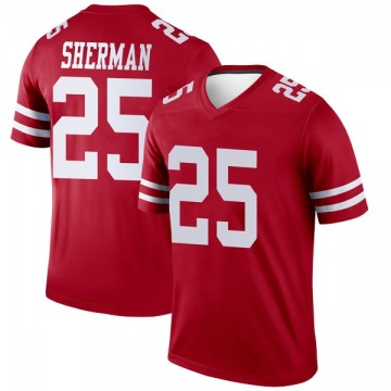 Youth Nike San Francisco 49ers Richard Sherman Scarlet Jersey - Legend