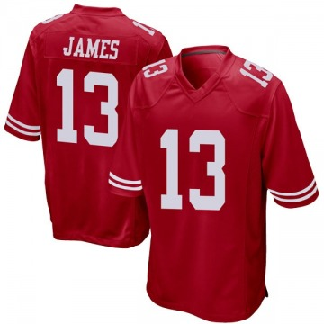 Youth Nike San Francisco 49ers Richie James Red Team Color Jersey - Game