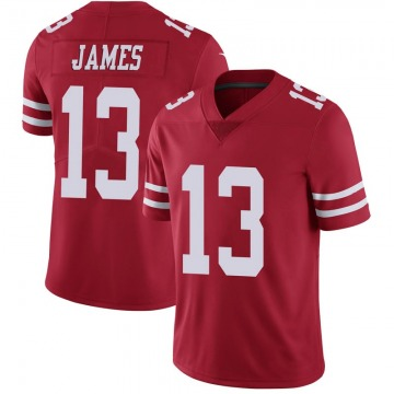 Youth Nike San Francisco 49ers Richie James Scarlet 100th Vapor Jersey - Limited
