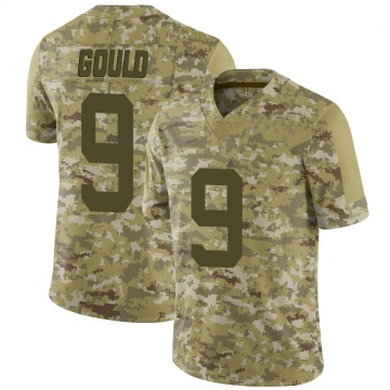 Youth Nike San Francisco 49ers Robbie Gould Camo 2018 Salute to Service Jersey - Limited