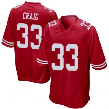 Youth Nike San Francisco 49ers Roger Craig Red Team Color Jersey - Game