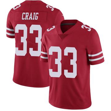 Youth Nike San Francisco 49ers Roger Craig Scarlet 100th Vapor Jersey - Limited