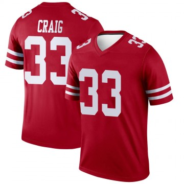 Youth Nike San Francisco 49ers Roger Craig Scarlet Jersey - Legend
