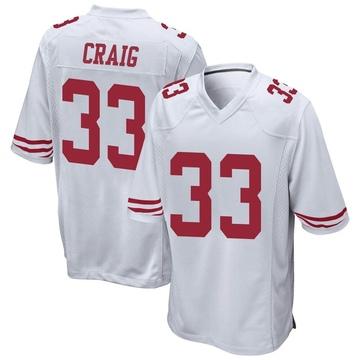 Youth Nike San Francisco 49ers Roger Craig White Jersey - Game