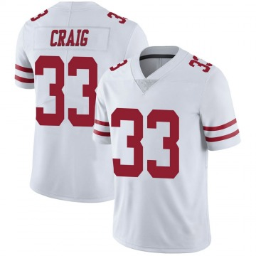 Youth Nike San Francisco 49ers Roger Craig White Vapor Untouchable Jersey - Limited