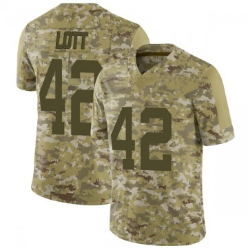 Youth Nike San Francisco 49ers Ronnie Lott Camo 2018 Salute to Service Jersey - Limited