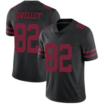 Youth Nike San Francisco 49ers Ross Dwelley Black Alternate Vapor Untouchable Jersey - Limited