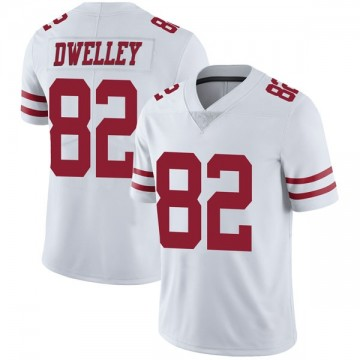 Youth Nike San Francisco 49ers Ross Dwelley White Vapor Untouchable Jersey - Limited