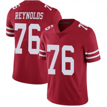 Youth Nike San Francisco 49ers Ross Reynolds Scarlet 100th Vapor Jersey - Limited
