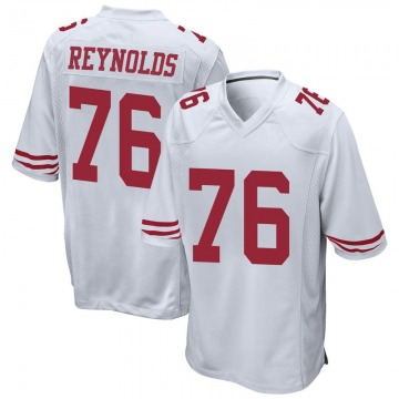 Youth Nike San Francisco 49ers Ross Reynolds White Jersey - Game