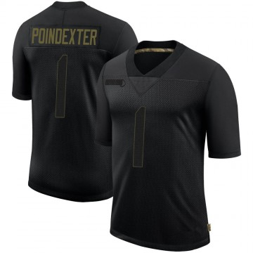 Youth Nike San Francisco 49ers Shawn Poindexter Black 2020 Salute To Service Jersey - Limited