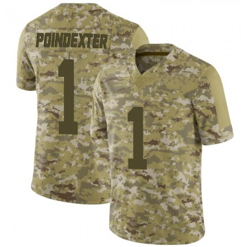Youth Nike San Francisco 49ers Shawn Poindexter Camo 2018 Salute to Service Jersey - Limited