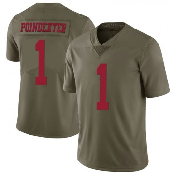 Youth Nike San Francisco 49ers Shawn Poindexter Green 2017 Salute to Service Jersey - Limited
