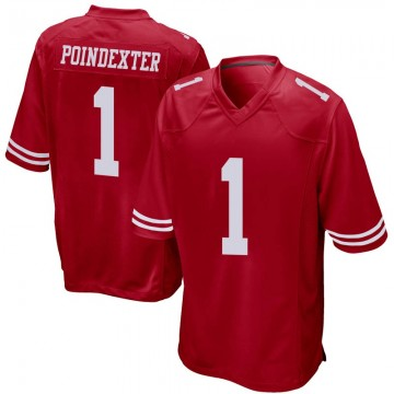 Youth Nike San Francisco 49ers Shawn Poindexter Red Team Color Jersey - Game