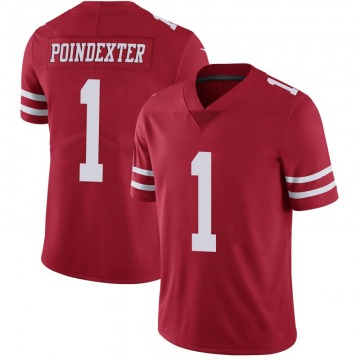 Youth Nike San Francisco 49ers Shawn Poindexter Scarlet 100th Vapor Jersey - Limited