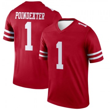 Youth Nike San Francisco 49ers Shawn Poindexter Scarlet Jersey - Legend