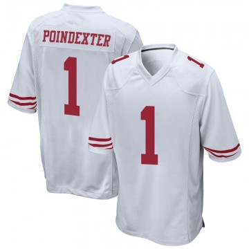 Youth Nike San Francisco 49ers Shawn Poindexter White Jersey - Game