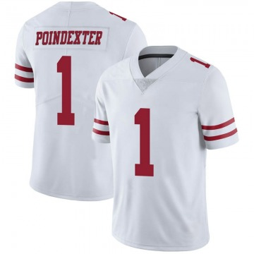 Youth Nike San Francisco 49ers Shawn Poindexter White Vapor Untouchable Jersey - Limited