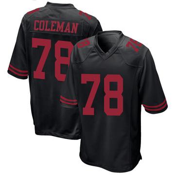 Youth Nike San Francisco 49ers Shon Coleman Black Alternate Jersey - Game