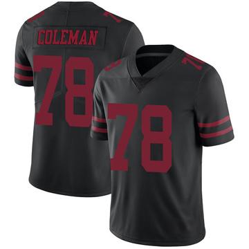Youth Nike San Francisco 49ers Shon Coleman Black Alternate Vapor Untouchable Jersey - Limited