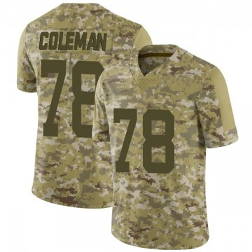 Youth Nike San Francisco 49ers Shon Coleman Camo 2018 Salute to Service Jersey - Limited