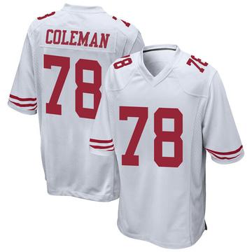 Youth Nike San Francisco 49ers Shon Coleman White Jersey - Game