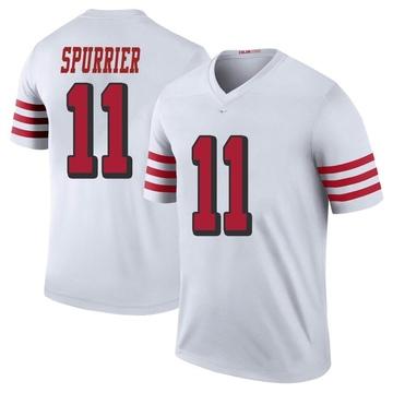 Youth Nike San Francisco 49ers Steve Spurrier White Color Rush Jersey - Legend
