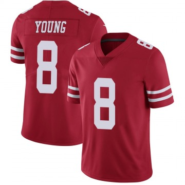 Youth Nike San Francisco 49ers Steve Young Scarlet 100th Vapor Jersey - Limited