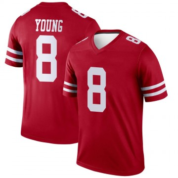 Youth Nike San Francisco 49ers Steve Young Scarlet Jersey - Legend