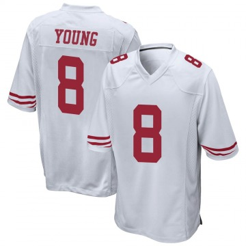 Youth Nike San Francisco 49ers Steve Young White Jersey - Game