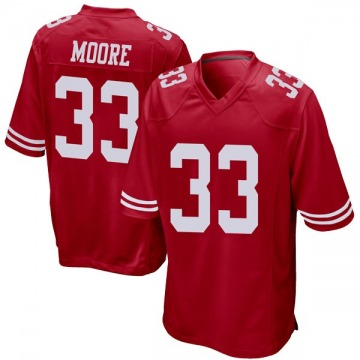 Youth Nike San Francisco 49ers Tarvarius Moore Red Team Color Jersey - Game