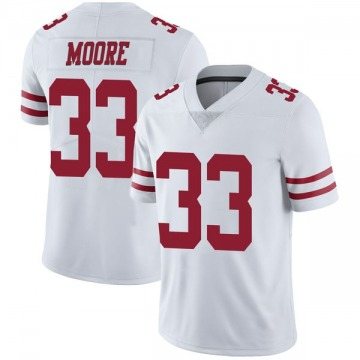Youth Nike San Francisco 49ers Tarvarius Moore White Vapor Untouchable Jersey - Limited