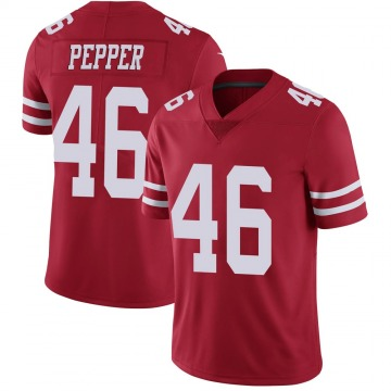 Youth Nike San Francisco 49ers Taybor Pepper Red Team Color Vapor Untouchable Jersey - Limited